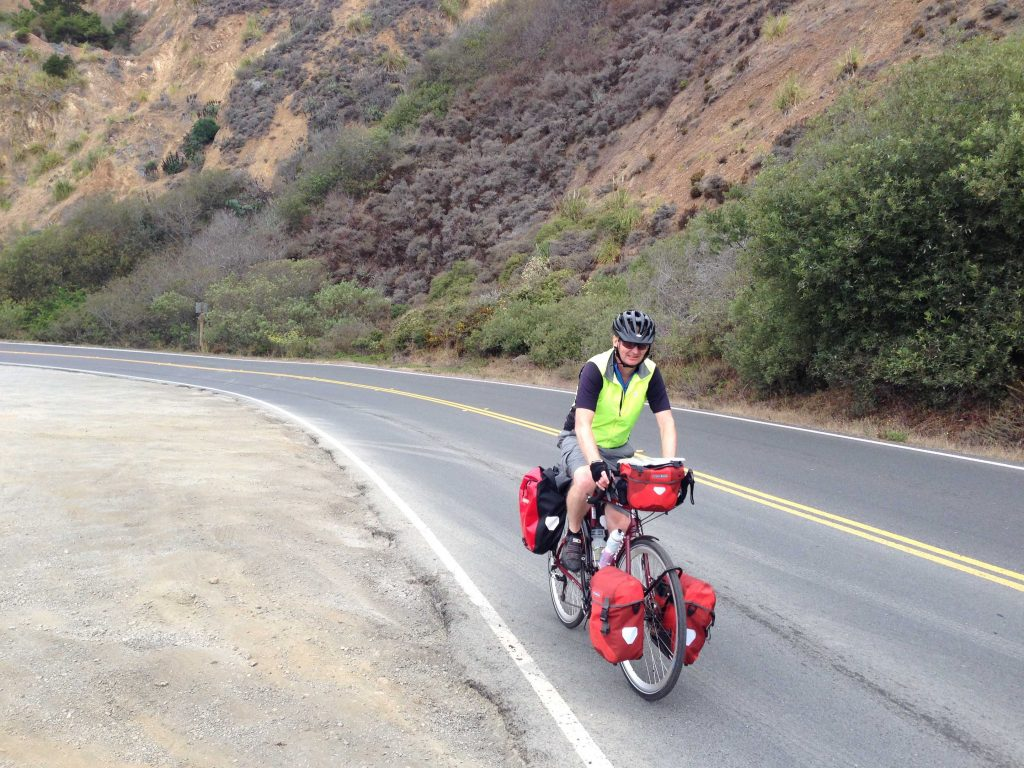 Mark climbing Highway 1