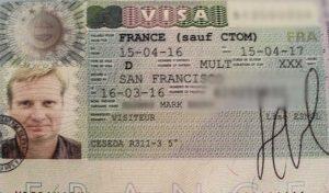 Mark's French Visa