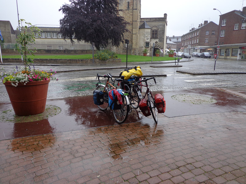 Bikes getting soaked in Abbeville