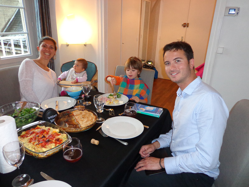 A delicious dinner with Denis and his family