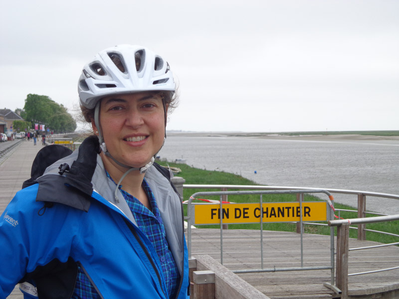 We reached the coast! Saint-Valery-sur-Somme, in the Baie de Somme.